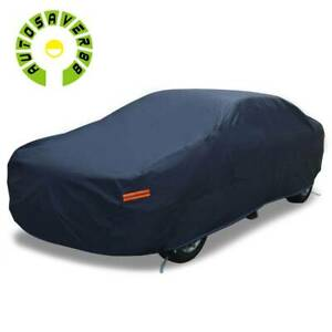 9 Layers Full Car Cover Waterproof Non abrasive Lining Uv Rain Dust Resistant