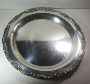 International Silver Company Round Serving Tray Platter 13