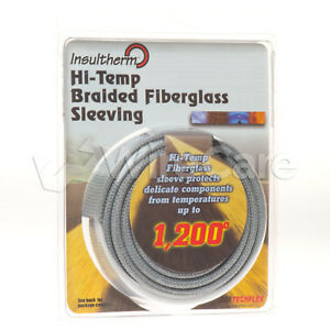 Insultherm Resin Coated Fiberglass Sleeving 3 4 Silver