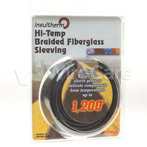 Insultherm Resin Coated Fiberglass Sleeving 7 8 Black
