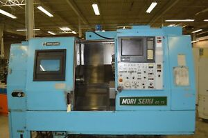 Mori seiki Zl 15 Twin Turret Cnc Lathe Fanuc 15tt Control With New Led Monitor