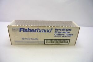 Fisherbrand 14 962 10d Borosilicate Glass Test Tubes 16x100mm Case 250