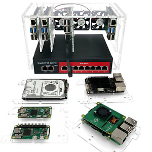 8 Slot Cluster Cloudlet For Raspberry Pi 4b 3b And Other Single Board Computer