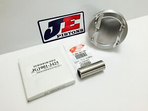 Je 4 155 11 9 1 Srp Flat Top Pistons For Pontiac 400 6 800 Rod 4 250 Stroke