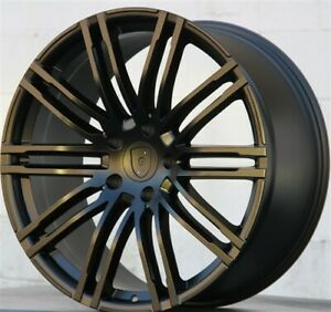 New 4 22 22x10 5x130 Wheels And Tires Pkg Fit Porsche Cayenne Q7 Touareg