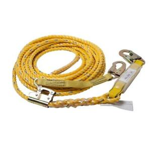 Vertical Life Line Assembly Nylon Rope Safety Harness Tool 50ft Fall Protection