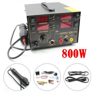 4 In 1 909d Dc Power Supply Hot Air Gun Rework Soldering Iron Station Welder Us