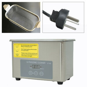 0 8l Industrial Ultrasonic Cleaner Jewelry Clean Machine Top Quality Usa Stock