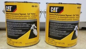 Genuine Oem Cat Yellow Two Gallons New Caterpillar Paint 458 9576 Implement