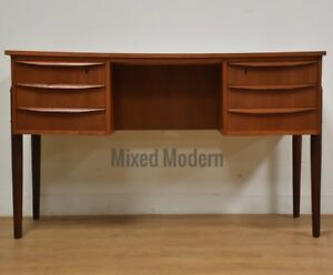 Danish Teak Mid Century Double Bank Desk