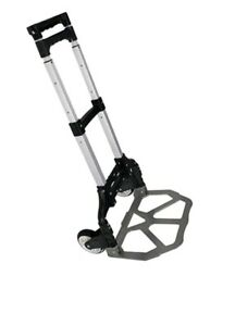 Aluminum Folding Hand Truck 170lbs Capacity W black Bungee Cord Strap