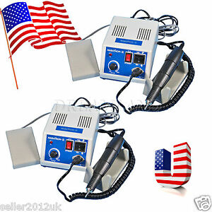 2x Us Stock Dental Marathon N3 Lab Polisher Micro Motor 35k Rpm Handpiece Gh r
