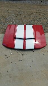 Cervinis Mustang Ram Air Hood 05 06 07 08 09 Ford 4 6l Gt Red