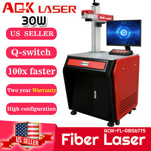 Aok Laser 30w Fiber Laser Engraver Marking Machine Cutting Engraving