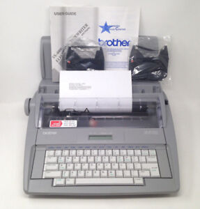Brother Sx 4000 Electronic Typewriter Lcd With Keyboard Cover 2 Film Ribbons