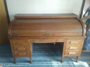 Antique Marshall Field And Co Roll Top Desk