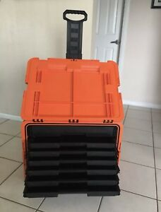 Snap On Tool Chest Box Road Box Kmc18043por Tools Orange 8 Drawers Rolling New