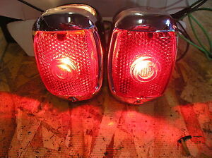 New Replacement Pair Of Tail Light Assemblies For 1937 1938 Chevrolet