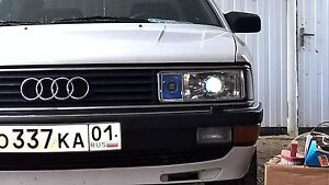 Audi 200 Clear Polycarbonate Covers Headlight For Retrofit Pair 4mm