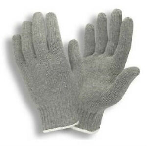 25 Dozen 300 Pair Gray String Knit Poly Cotton Work Gloves Pairs Grey Small S