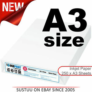 Toughprint Waterproof Paper durablefor Maps Signs Documents inkjet 250 A3 Sheets