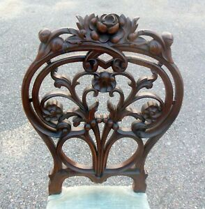 Amazing Carved Victorian Chair French Rococo Botanicals Flowers