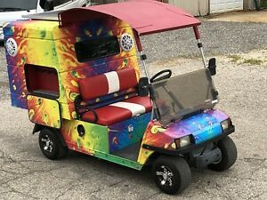 Club Car Shave Ice Food Truck Concession Cart Solar Powered W Free Trolley