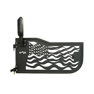 07 18 Jeep Wrangler Jk 2door Steel Black America Flag Tube Doors Side Mirrors
