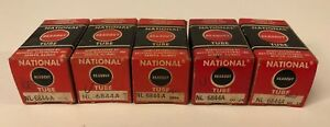 New Old Stock Lot Of 5 National Readout Nixie Tubes Type Nl 6844a