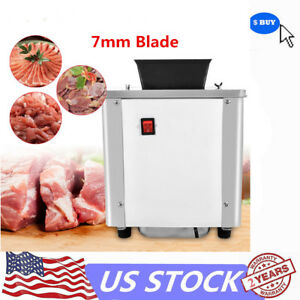 Commercial Meat Slicer Meat Grinder Stainless Steel Meat Cutter 7mm Cutter Blade