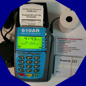 610ar Battery Backed Up Digital Employee Time Clock Punch Or Swipe Payroll