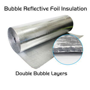 Double Bubble Insulation Reflective Wrap Roll Foil db foil 40 X 30 Ft 100 Sqft