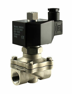 Normally Open Electric Stainless Air Water Gas Solenoid Valve 1 2 Inch 110v Ac