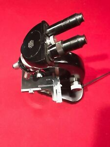 Leitz Wetzlar Binocular Microscope 4 Objectives Light Case Germany