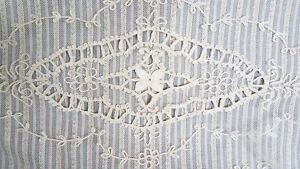 Antique Tambour Lace Table Runner Dresser Scarf 13 X 44 Floral
