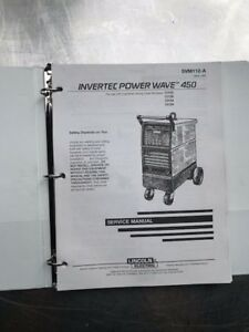 Lincoln Electric Invertec Power Wave 450 Service Manual Svm 112a And B