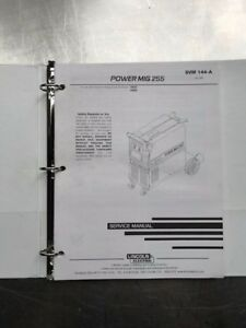 Lincoln Electric Power Mig 255 Service Manual Svm144a
