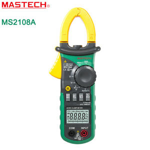 Mastech Ms2108a Digital Clamp Multimeter Dc Ac Current Volt Resistance Tester