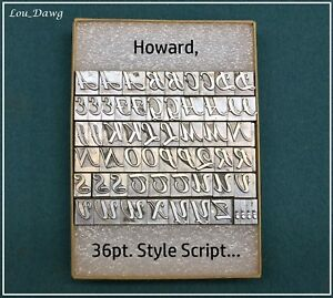Howard Personalizer Type 36pt Style Script Hot Foil Stamping Machine