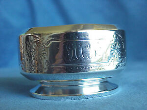 Early Antique Whiting Gorham Sterling Silver Master Open Salt Cellar Dip 70 Gram