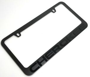 Black License Plate Frame For Jeep Cherokee premium Matte Letters Emblem
