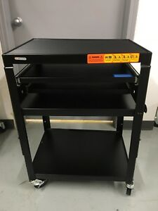 Bretford Basic Adjustable Av Multimedia Cart A2642dnse new read