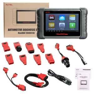 Autel Maxidas Ds808k Kit Tablet Diagnostic Tool Full Set Update Ver Of Ds708