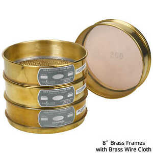 Advantech Manufacturing 8 Dia Brass Frame Testing Sieve With Brass Wire Clo