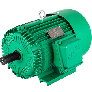 Electric Motor 5 Hp 3 Phase 1750 Rpm 230 460 Volt 184t Frame Tefc Severe Duty