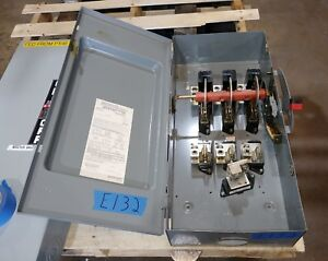 Square D H324n 200 Amp 240 Volt Fused Type 1 Disconnect Switch