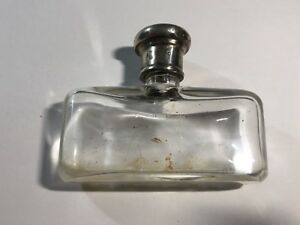 Antique Ladies Sterling Silver Topped Perfume Bottle Bin5 7