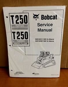 Bobcat T250 Track Loader Service Manual Shop Repair Book 1 Part 6902451