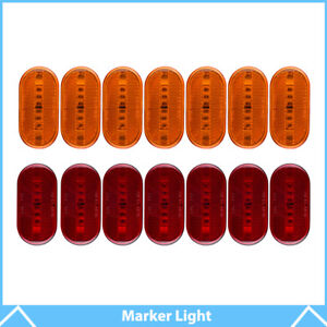 7red 7amber 6led 4 X 2 Side Marker Lights Clearance Camper Trailer Rv Lamp