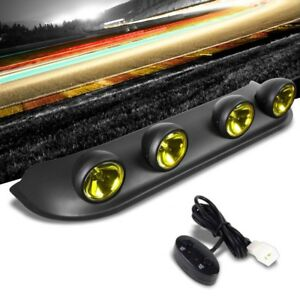 Roof Top Mount Fog Light Lamp Bar Black Bezel Amber Lens Fit Offroad Truck Suv